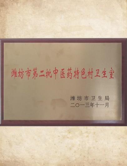潍坊市第二批中医药特色村卫生室